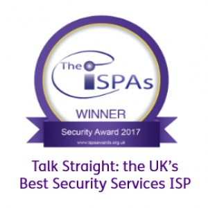 Talk Straight are officially the UK's Best Security Services ISP